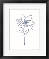 One Line Flower II Framed Print