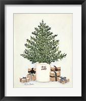 Framed Country Crock Christmas Tree