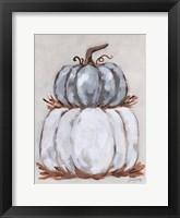 Pumpkin Stack III Framed Print