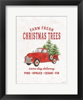 Framed Christmas Trees Delivery Truck