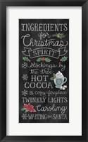 Framed Christmas Chalk X