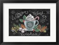 Christmas Chalk VIII Framed Print