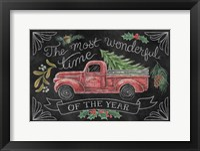 Christmas Chalk V Framed Print