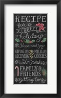 Christmas Chalk IX Framed Print