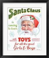 Framed Santa Signs II