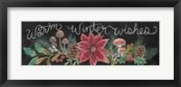 Framed Christmas Chalk Winter Wishes