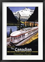 Framed Canadian Pacific Train 1955