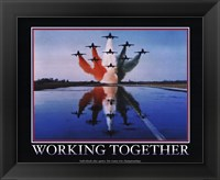Framed Motivational - Working Together