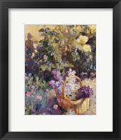 Framed Basket with Flowers