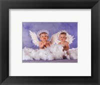 Framed Heavenly Kids 2 Angels