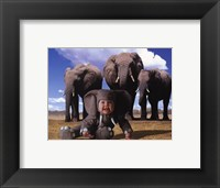 Imaginary Safari Eleph Framed Print