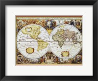 Framed Map of the World III