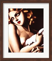 Framed Femme a Colombe