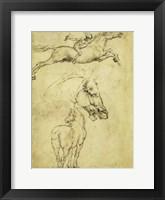 Framed Sketch of a Horse