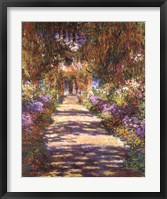 Framed Jardin a Giverny