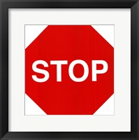 Framed Sign - Stop