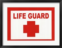 Framed Sign - Life Guard