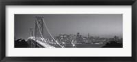 Framed San Francisco Bandw