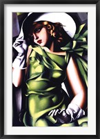 Framed Jeune Fille Vert