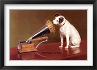 Framed His Master's Voice Advertisement