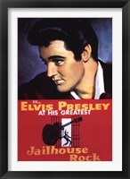 Framed Jailhouse Rock Elvis Presley at his Greatest