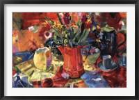 Framed Pitcher Of Flowers
