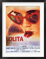 Framed Lolita Heart Sunglasses