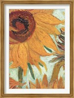 Framed Vase with Twelve Sunflowers, .c1888 (detail)