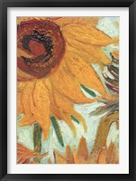 Framed Vase with Twelve Sunflowers, .c1888 (detail)