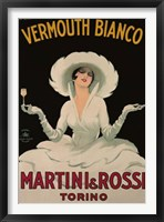 Framed Martini and Rossi Vermouth Bianco