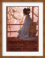 Framed Pucini-Madama Butterfly