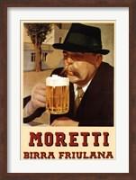 Framed Moretti Beer