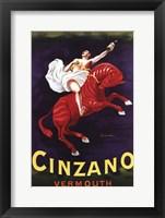 Framed Cinzano Vermouth