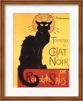 Framed Tournee du Chat Noir (Yellow Background)