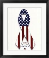 Framed American Flag and Ribbon
