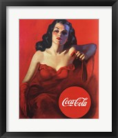 Framed Coca-Cola Model