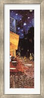 Framed Cafe Terrace on the Place du Forum, Arles, at Night, c.1888 (detail)