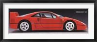 Framed Ferrari F-40