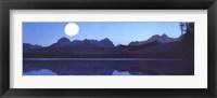 Framed Moon and Lake