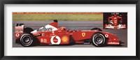 Framed Ferrari F1 2002