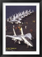 Framed Airplane F-14 Tomcat