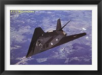 Framed Airplane F-117 Nighthawk flying