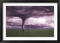 Framed Tornado And Lightning On Field