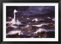 Framed Lighthouse And Waves, South Africa