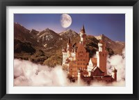 Framed Castle In The Mountains