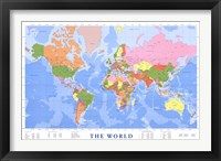 Framed Map of The World (mercator projection)