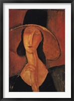 Framed Jeanne Hebuterne