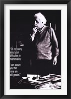 Albert Einstein - Don't Worry Framed Print
