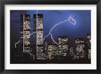 Framed Lightning over World Trade Center