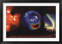 Framed Solar Flare and Earth's Magnetosphere
